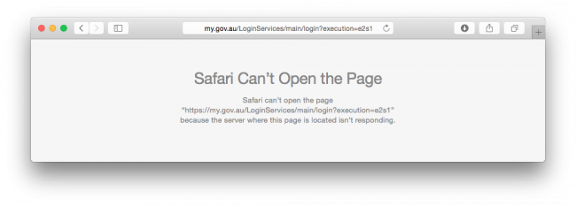 myGov website down
