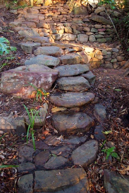 Nov - Garden steps 2